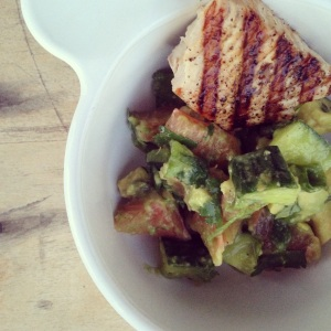 Grilled Opah and Avocado Grapefruit Salad (recipe coming!)