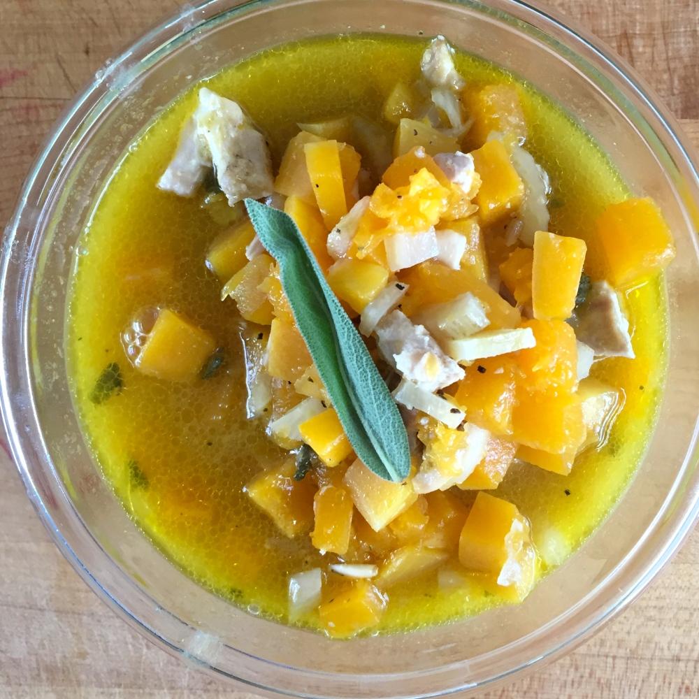 Butternut Sage Chicken Soup