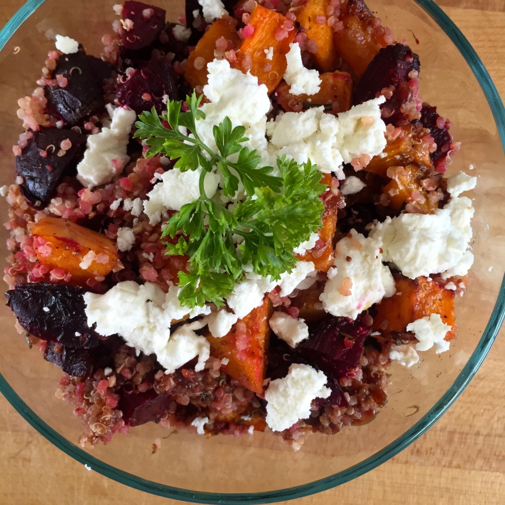 Beet and Butternut Quinoa Salad