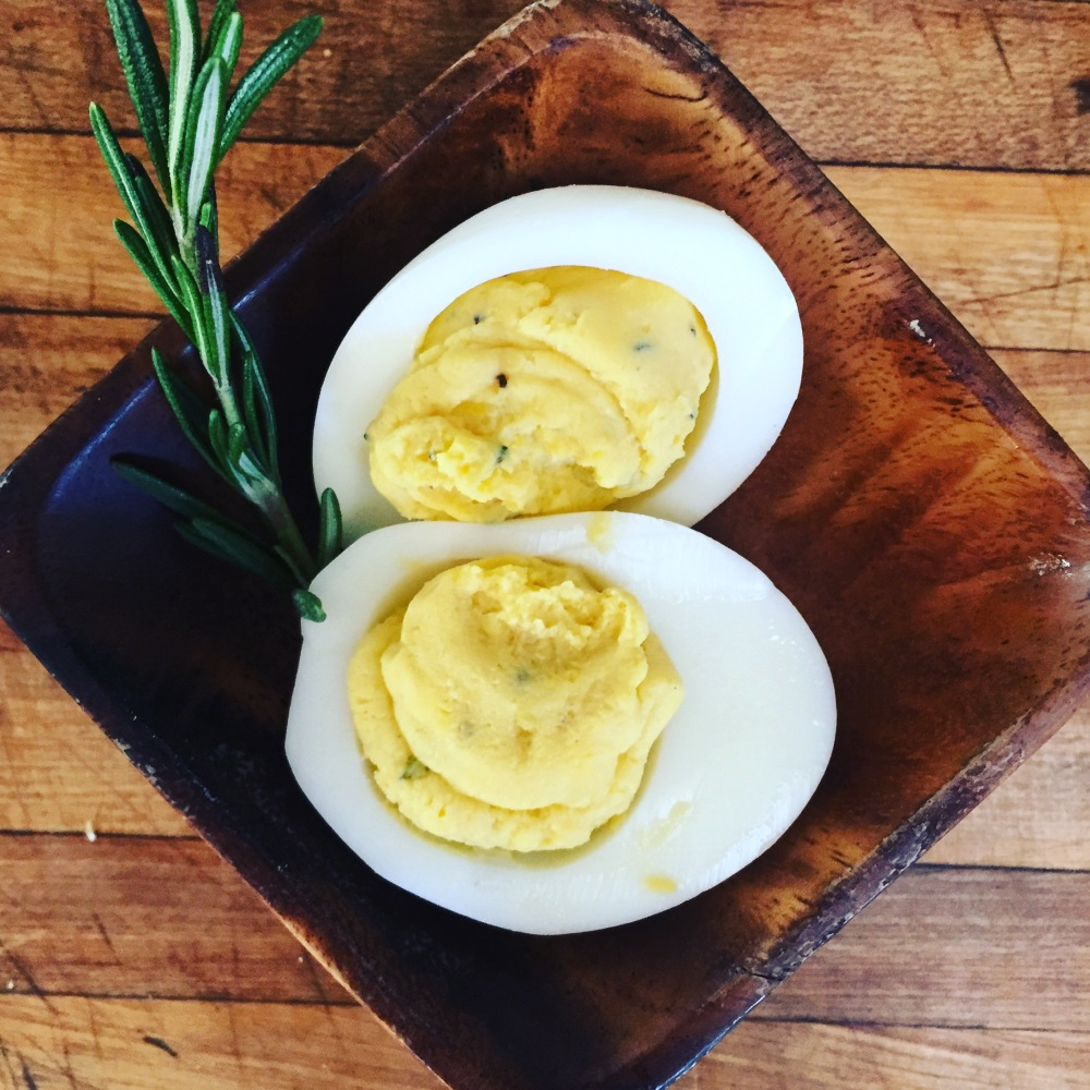 Lemon Rosemary Deviled Eggs